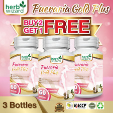 3 x BOTTLES PUERARIA MIRIFICA 5500mg BUST FIRMING BREAST ENLARGEMENT CAPSULES