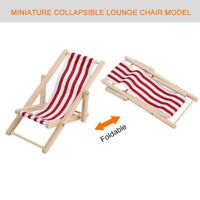 Dollhouse Mini Furniture Foldable Beach Chair Toy Accessory for 1/12 Scale Doll