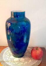 Superbe vase ancien en porcelaine de Sèvres Paul Millet beau dégradé de bleu