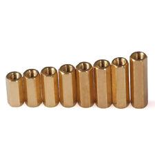 M3 M4 Solid Brass Female Threaded Hex Isolation Column Standoff Spacer
