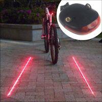 5 LED 2 Laser Beam Mountain Bicycle Bike Cycle MTB Rear Tail Warning Lamp Light