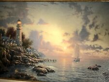 "Thomas Kinkade Sea of Tranquility S/N Canvas 24"" X 36""  With The Frame 32"" X 44"""