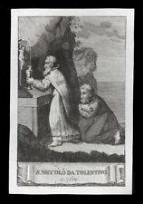 santino incisione 1800 S.NICOLA DA TOLENTINO