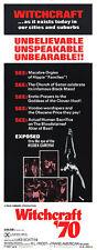 WITCHCRAFT '70 original 1970 EXPLOITATION/MONDO 14x36 insert movie poster