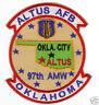 USAF BASE PATCH, ALTUS AFB OKLAHOMA, 97TH AMW,                                 Y