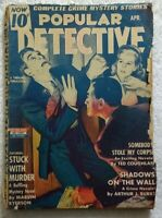 POPULAR DETECTIVE MAGAZINE Apr 1943 • Ted COUGHLAN Murder Crime • PULP FICTION