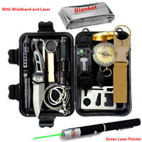 Survival Kit Set Military Outdoor Travel Camping Tools First Aid Box Emergency