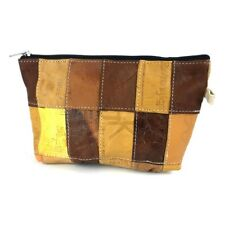 Repurposed Mis-Printed Jeans Leather Labels Pouch/Purse Fair Trade