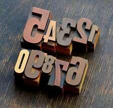0-9 Zahlenmix Plakatlettern letterpress Lettern Ziffern Stempel Zahlen Ziffer !