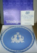 Wedgwood Jasperware Blue Charles & Diana Wedding Plate Boxed