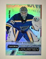 2020-21 UD Synergy Stanley Cup Journey Post-Season #CJ-JB Jordan Binnington /899
