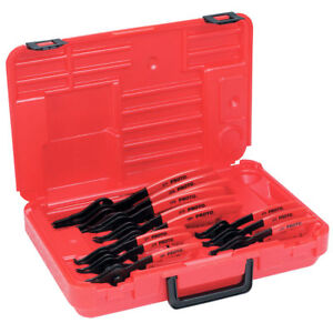 Proto 360B 12Pc RED Alloy Steel Fixed Convertible Retaining Ring Pliers Set