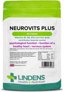 Neurovits Plus (Vitamins B1, B6, B12, Folic Acid) Tablets (90) Lindens