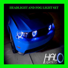 2010-2012 FORD MUSTANG WHITE LED HEADLIGHT+FOG HALO KIT SET (4 RINGS) by ORACLE