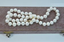 beautiful baroque Cultured Pearl necklace 20 inch 9 carat Gold clasp