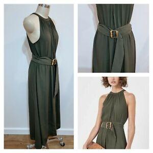 BNWT WITCHERY MAXI DRESS Size 14 Large L women, fits 12 Fern Green Summer Dress
