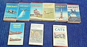 9 Different Observer books. Aircraft, animals and cats. All listed.