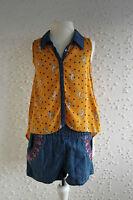 Kombination Jeans Kurze Hose Short  + Bluse Matalan, 6-7 Jahre (Gr 116 122), neu