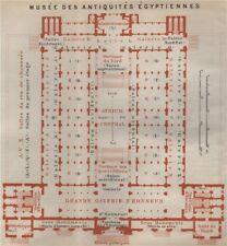 EGYPTIAN MUSEUM OF ANTIQUITIES MUSÉE ANTIQUITÉS ÉGYPTIENNES Floor plan 1914 map