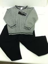 Baby George Infant Toddler Dress Outfit Gray sweater Black  pant holiday 24m