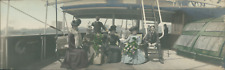 Japan, Panoramic View. Group on board of a ship  Vintage silver print. Vue panor