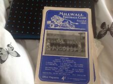 Football Programme millwall v coventry 1956/57