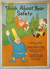 Sheet Music - Think About Your Safety by Met Life c1940s w Tips for Good Driving