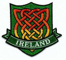 Irish Celtic Knotwork Crest - Embroidered Patch / Badge - Ireland