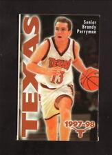 Texas Longhorns--Edwina Brown--1997-98 Basketball Pocket Schedule--KVET