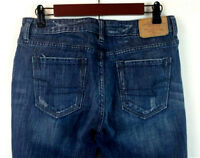 American Eagle Women's Hipster Jeans Boot Cut Dark Wash Faded Stretch Size 8
