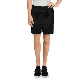 Theory Womens Linen Blend Belted Wide Leg Casual Shorts BHFO 2979