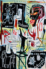 Jean Michel Basquiat Melting Point Modern Abstract Canvas Fine Art 20 x 30 A1