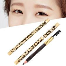 Eyebrow Pencil with Brush Fine Brow Definition Shaper Waterproof Light Coffee GA