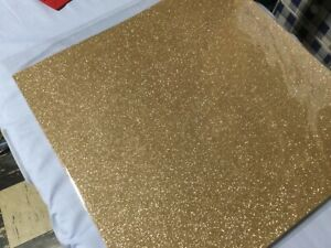 """Anna Griffin 12"""" by 12"""" glitter CARDSTOCK, 10 gold colored one sided, misc 38"""