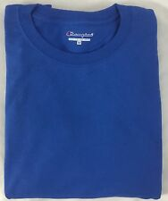 Champion Men ONE Long Sleeve Workout T-Shirt CC8C Ribbed Cuff Blue Size L