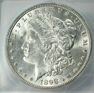 1898 USA Morgan Silver Dollar ICG MS64+ Condition, Blast White KM#110  (845)