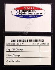 holden gmh guardian service sticker nasco eh ej fc fb hr hd hj hq hz hj 253 308