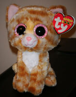 Ty Beanie Boos - TABITHA the Cat (6 Inch)(Glitter Eyes) MINT with MINT TAGS