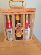 Christmas Triple Bottle Bag Gingerbread Man Design