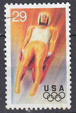 USA Briefmarke gestempelt 29c Olympia Bob Bobsport Rodeln Wintersport Sport/3402