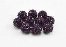 WHOLESALE 10mm Crystal Clay Disco Ball Shamballa Beads UK Top Quality Fast Serv