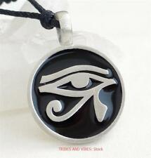 EYE OF HORUS Pendant Necklace Egyptian RA pagan protection pewter Jewellery NEW
