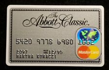 The Abbott Classic MasterCard credit card exp 1995♡free ship♡cc1185♡