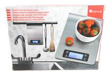 Báscula de cocina báscula stand - 1g 5kg acero inoxidable tempr. y Timer impulso digital (f000)