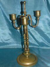 Exquisite Antique Gothic Triple Gilt Bronze Candelabra - Stunning Elegant Form