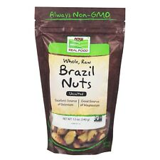 NOW Foods Brazil Nuts, Whole, Raw & Unsalted, 12 oz