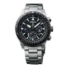 Seiko Men's 45mm Steel Bracelet & Case Automatic Black Dial Watch SSC607P1