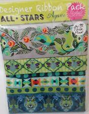 Jacquard Ribbon ~ Designer Pack All Stars Agave ~ Tula Pink Renaissance Ribbons
