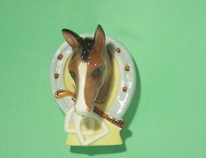 Vintage Kalmar Pottery Australian pottery horse head wall pocket / wall vase