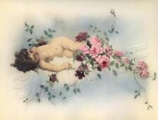 VICTORIAN Antique CHERUB Chic Shabby *CANVAS* Vintage ANGEL Tojetti ART PRINT